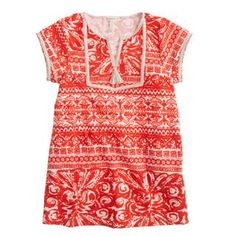 Girls' terry cloth tassel dress