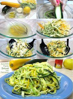 Zucchini Pasta Salad with Parmesan (Atkins Diet Phase 1 Recipe) | Diet Plan 101