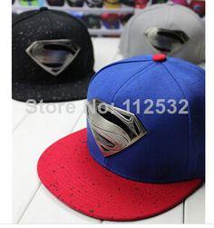 197f2a92 2014 new style fashion Men and women hip-hop fashion Superman baseball cap  flat along