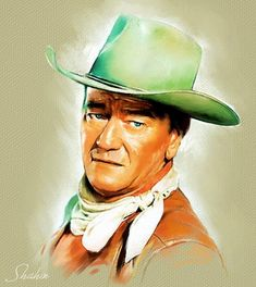 Portrait of John Wayne by shahin on Stars Portraits, the biggest online gallery for celebrity portraits. Charles Bronson, Ray Charles, Clark Gable, Hollywood Actor, Hollywood Stars, Jonathan Stewart, Film Icon, Maureen O'hara, Gina Lollobrigida