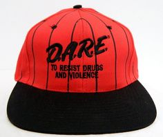 e59752a1b09 Vintage 90s D.A.R.E Snap Back Hat by Nissun Cap Very Nice Condition. Etsy