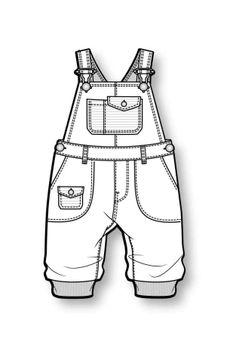 Baby overalls draft.