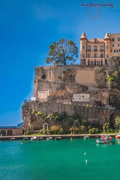 Spectacular view of the castle of Maiori on the Amalfi coast - Italy