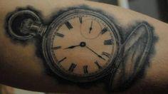 Pocket watch tattoo