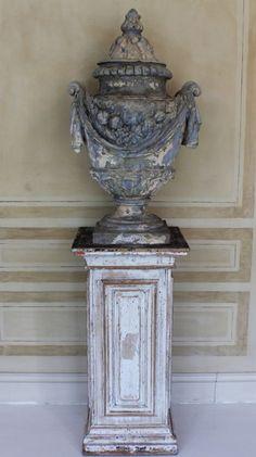 18th century garden urns
