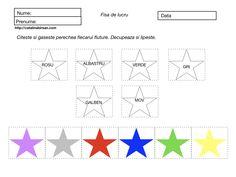Culori. Decupeaza si lipeste. 4 fise de lucru Word Search, Diagram, Words, Blog, Geometry, Blogging, Horse