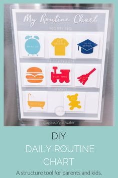 DIY Daily Routine Chart for Kids A Glass of Goldwater DIY Daily Routine Chart for Kids A Glass of Goldwater Diaper Dabbler Diaper Samples diaperdabbler Parenting hacks tips nbsp hellip Valentines date Daily Routine Chart For Kids, Charts For Kids, Kids And Parenting, Parenting Hacks, Valentines Date Ideas, Work From Home Tips, Mom Advice, Baby Steps, Finding Joy