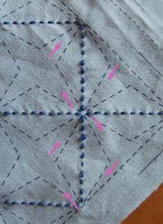 Sashiko - Japanese embroidery, explained and with a tutorial, on the Purl Bee