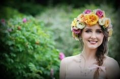 real flower bridal headdress