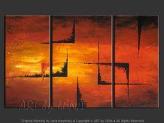 """""""Return to the Secret Passage"""" - Original Abstract Art by Lena Karpinsky, http://www.artbylena.com/original-painting/21158/return-to-the-secret-passage.html"""