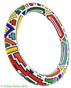 Ndebele Beaded Collar Ring Necklace South Africa 15 Inch - Necklaces - Ethnic Jewelry Ethnic Jewelry, Beaded Jewelry, Beaded Collar, Couture Details, Neck Piece, African Hairstyles, Diamond Pattern, Ring Necklace, South Africa
