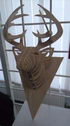 3д голова оленя; голова оленя на стену; голова животных из фанеры Николаев - изображение 4