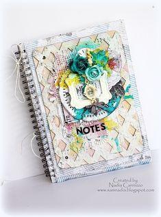 Altered Notebook for *Marion Smith Designs* - Scrapbook.com