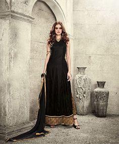 Black Velvet Straight Cut Suit 78692