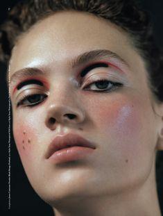 """Rose Quartz"" Adrienne Juliger by Letty Schmiterlow for Dazed Magazine Fall 2016. Stylist: Emma Wyman Makeup: Thomas de Kluyver"