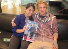 Teen's Editorial Asst. Kaitlin with Cody Simpson!