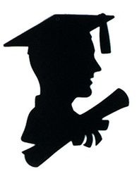 Boy Graduate Silhouette, 12 inches
