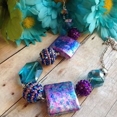Purple Necklace Purple Glass Beaded Necklace by SundanceMountains