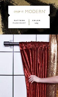 ROD POCKET DRAPERY: Plush Velvet // ruby