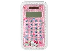 Hello Kitty Stone Decoration Calculator 8 Digit Display Solar Powered JAPAN