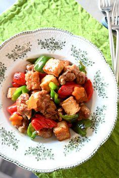 豚と厚揚げとピーマンのうまコクポークソテー レシピブログ Tapas Recipes, Kung Pao Chicken, Ethnic Recipes, Food, Meals