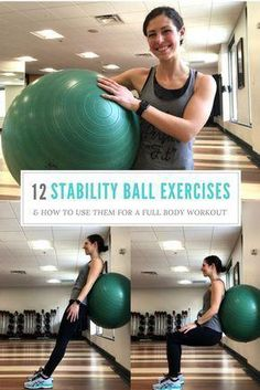 12 stability ball exercises that target your whole body + how to use them in a full body workout! Comment Faire Des Squats, Entrainement Full Body, Exercices Swiss Ball, Stability Ball Exercises, Swiss Ball Exercises, Balance Ball Exercises, Exercise Ball Exercises, Core Strength Exercises, Men Exercise