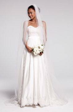Absolutely beautiful. Lace and silk charmeuse wedding dress
