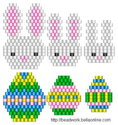 Free bunny and egg patterns- The egg graph also comes blank to decorate your own!