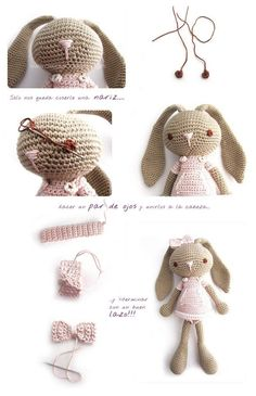 Mesmerizing Crochet an Amigurumi Rabbit Ideas. Lovely Crochet an Amigurumi Rabbit Ideas. Crochet Diy, Crochet Amigurumi Free Patterns, Crochet Crafts, Crochet Dolls, Crochet Projects, Crochet Ideas, Crochet Mignon, Confection Au Crochet, Crochet Rabbit
