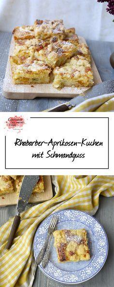 Experimente aus meiner Küche: Rhabarber-Aprikosen-Kuchen mit Schmandguss