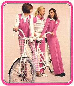 1970s fashion in pink