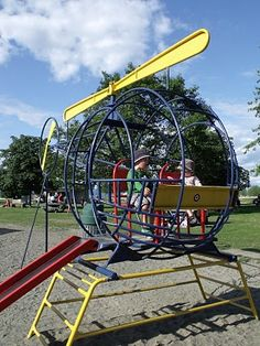 swings and roundabouts- Victoria: Community Park Playground- Parksville (helicopter..gotta make it happen)