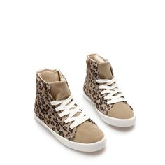 Image 2 of ANIMAL PRINT SNEAKERS from Zara