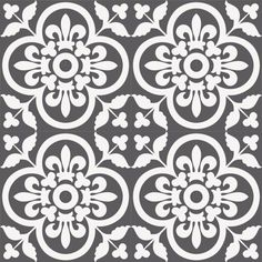 Zementfliese A 185-7 mit floralem, großzügigem Muster ist auch in anderen Farben im MiraColour-Sortiment enthalten.