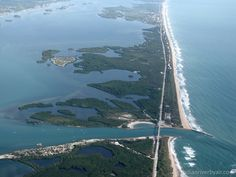 Views north over the Sebastian Inlet
