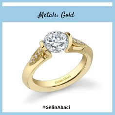 From our friends at #GelinAbaci: Gold is the most workable of all metals, which means it's easy to manipulate while designing jewelry. Measured in karats (kt), 24-karat gold is its purest form, but the most common measurements are in 10 karats, 14 karats and 18 karats. Because of its very sensitive nature, jewelers are known to mix gold with other metals like silver and palladium, ensuring the durability of the jewelry. www.GelinAbaci.com