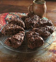 Nutella-Toffee Scones - As if Nutella was not enough, you add toffee?! Divine!