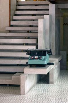 scarpa. Carlo Scarpa. Olivetti showroom. St Mark's square. Venice. Staircase with typewriter.