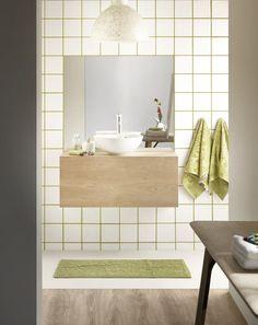 Cuarto de baño en tonos verdes
