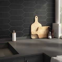 SomerTile 4x11.75-inch Cometa Black Porcelain Floor and Wall Tile (40/Case, 11.81 sqft.) | Overstock.com Shopping - The Best Deals on Floor Tiles