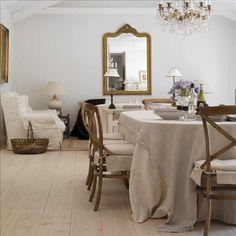 Vardagsrummet är inspirerat av franska salonger. De mörka stolarna, pläden från Mulberry, tavlan och...via Skona Hem