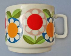 vintage cup with flowers by fmr bavaria by OldLikeUs on Etsy