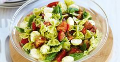 Pasta gets a new twist with pesto and bocconcini in this stunning summer side salad for the wedding Easy Pasta Recipes, Pasta Salad Recipes, Cooking Recipes, Healthy Recipes, Caprese Pasta Salad, Easy Pasta Salad, Side Salad, How To Cook Pasta, Ethnic Recipes