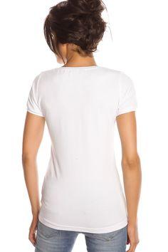 T-shirt femme T- REMEMBER NAVY et BLANC Blanc
