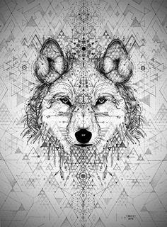 wolf tattoo by David Hale