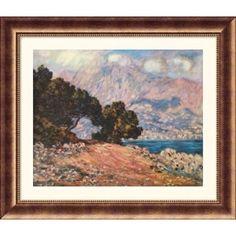 Great American Picture Cape Martin, near Menton, 1844 Bronze Framed Print - Claude Monet - 23190-Bro