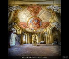 Baroque Oval – Ludwigsburg Palace, Germany (HDR Vertorama)