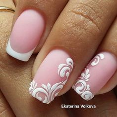 Nail art Christmas - the festive spirit on the nails. Over 70 creative ideas and tutorials - My Nails Cute Nail Art, Beautiful Nail Art, Cute Nails, Pretty Nails, My Nails, Fabulous Nails, Gorgeous Nails, Bridal Nails, Wedding Nails