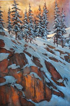 Paintings - David Langevin Artworks Inc. Watercolor Landscape, Landscape Art, Landscape Paintings, Watercolor Art, Landscapes, Painting Snow, Winter Painting, Winter Art, Winter Trees