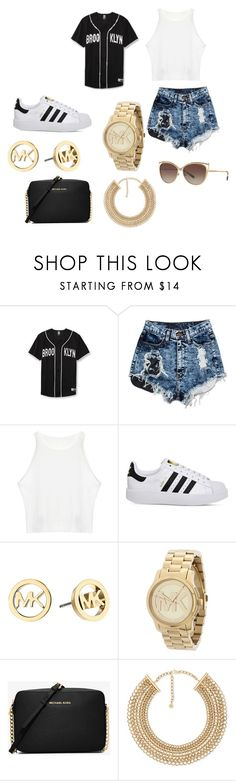 """""""Untitled #425"""" by nubianprincess1999 ❤ liked on Polyvore featuring adidas and Michael Kors"""